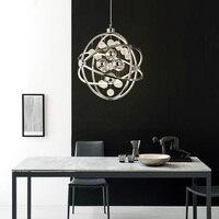 Post Modern Chandeliers Simple Circular Living Room Lights Nordic Creative Personality Study Restaurant Lights LED Art