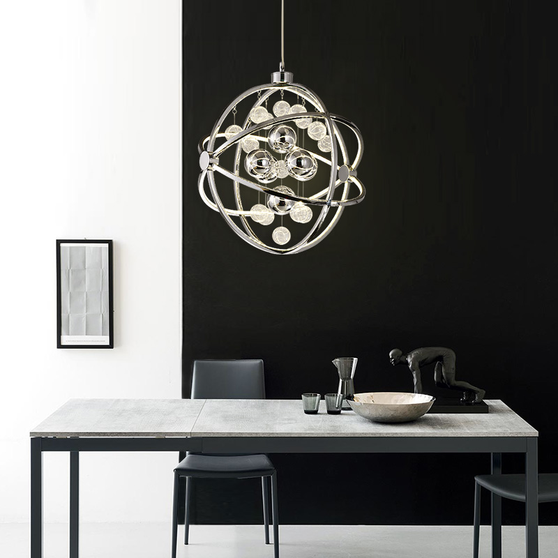 Post modern chandeliers simple circular living room lights Nordic creative personality study restaurant lights LED art lighting z post modern luxury villas led chandeliers creative silver gold living room dining room study of spherical personality lamps