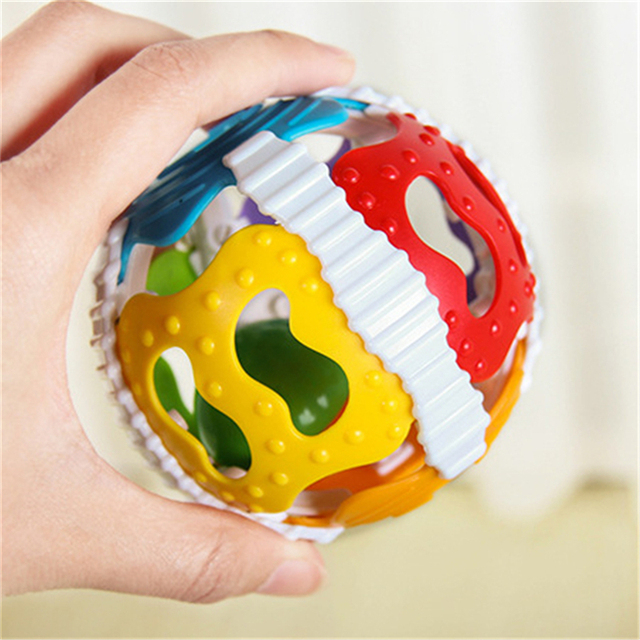 2019 Baby Speelgoed Luid Bell Ball Speelgoed Ontwikkelen Baby Intelligence Activiteit Baby Grijpen Rammelaars Hand Bell Speelgoed Rammelaar 1