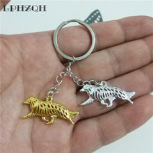 LPHZQH fashion cute Border Collie dog car key chain women handbag pendant charm accessories trendy Key ring jewelery steampunk