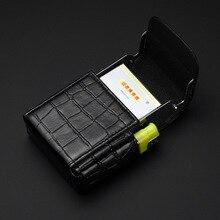 Top Rank Leather Cigarette Case Pocket Cigarette Box Portable Cigarettes and Lighter Holder – Gadgets for Men & Women