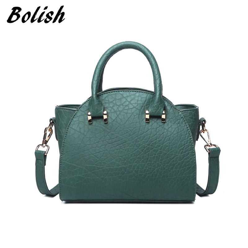 Bolish высокое качество Искусственная кожа женские топ-ручка сумка маленькая сумка через плечо в Корейском стиле Универсальные женские сумки