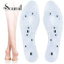 Soumit унисекс магнитные массажные стельки для ног акупрессованные колодки для обуви терапия для похудения стельки для похудения прозрачные