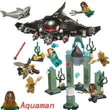 Legoings Aquaman Super Heroes IronMan человек паук Бэтмен Супермен строительные блоки кирпичи игрушки DC Marvel Мстители Бесконечность войны