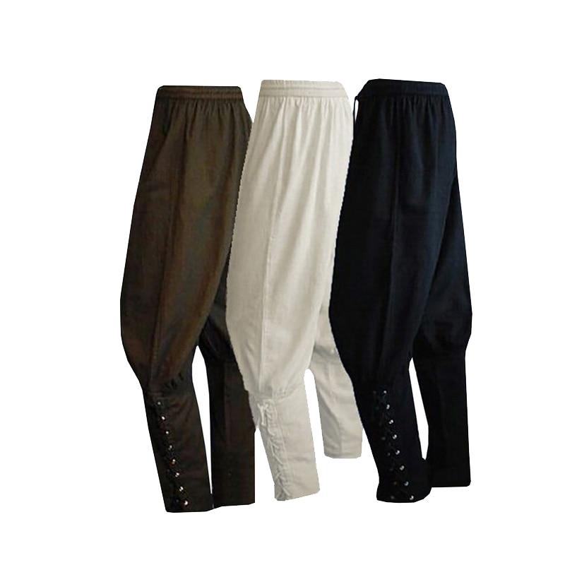 Pirate Knight Clothing Large Size Adult Men's Medieval Renaissance Lounge Loose Pants Viking Navigator Leg Bandage Pants