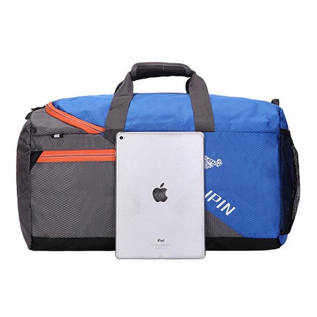 Large Capacity Training Gym Bag Outdoor Waterproof Nylon Sports Luggage Duffels Bag Multifunction Shoulder Handbag for Men Women 2