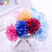 12pcs silk carnations bouquet Stamen Artificial flower wedding decoration Flowers DIY wreath Scrapbooking Craft fake flowers