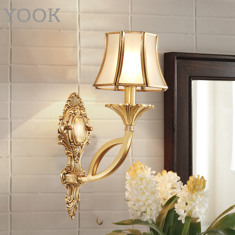 Lights & Lighting Led Indoor Wall Lamps European Classical Foyer Led Wall Lamps Copper 110-220v Bedroom Bedside Wall Lights Balcony Aisle Wall Deco Sconce Surface Mount Buy One Give One