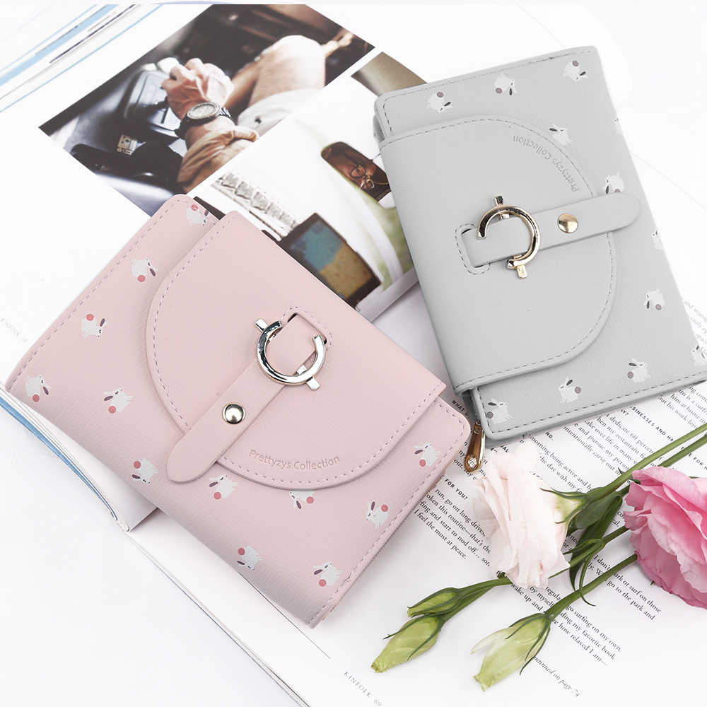 35069da85b7c Female Lovely Short Wallet Leather Women Zipper Coin Purse Hasp Fashion  Animal Ladies Wallets Portable Small Purses For Girl