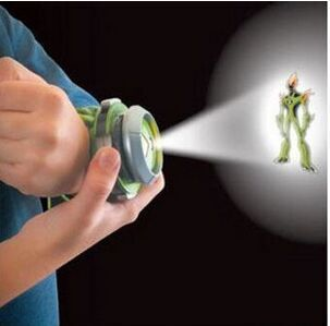 2015 Hot Selling Ben 10 Style Japan Projector Watch BAN DAI Genuine Toys for Kids Children Slide Show Watchband Drop SA085