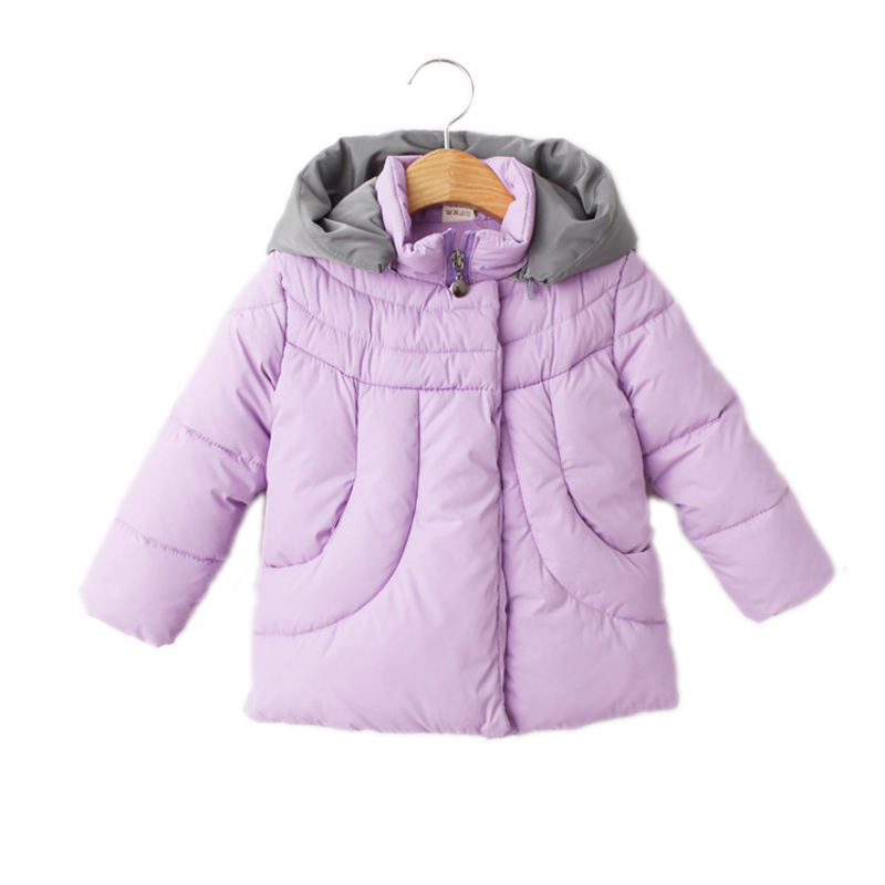 ФОТО children winter jackets for girls 2017 baby girl clothes solid sack kids winter parka coat wizard hooded down jackets for girl