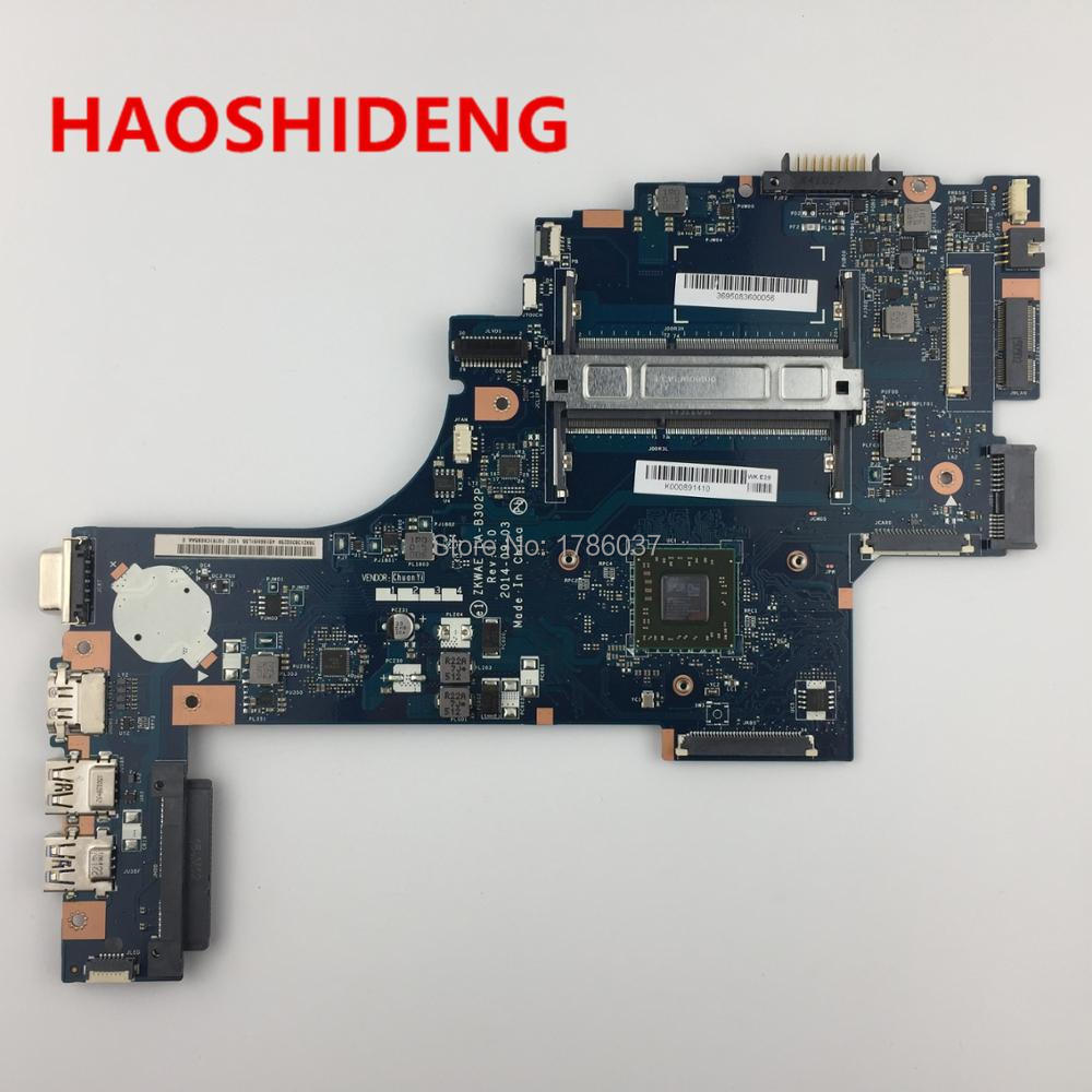 K000891410 LA-B302P For TOSHIBA Satellite C50 C55 C50D C55D C55Dt-B5208 Laptop Motherboard with A8-6410 2.0G processor настольная лампа eglo bedworth 49189