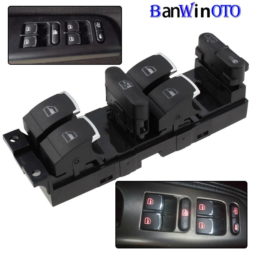 Chrome Master Window Controller Switch For VW Jetta Golf GTI MK4 Passat B5 Driver Side 3BD959857 3BD 959 857 1998-2005 Banwinoto