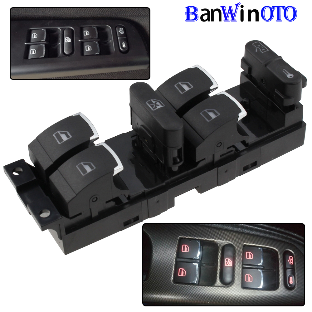 Chrome Master Window Controller Switch For VW Jetta Golf GTI MK4 Passat B5 Driver Side 3BD959857 3BD 959 857 1998-2005 Banwinoto