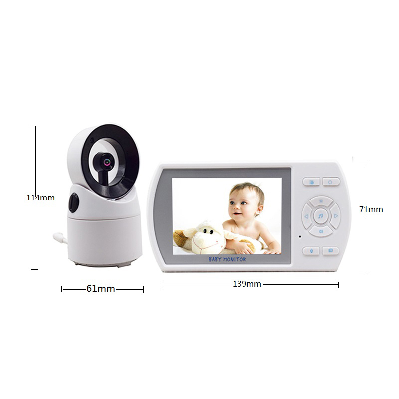 Wireless Baby Monitor Big LCD Screen 3.5 Inch Surveillance Video Talk Camera with Night Version help your baby talk