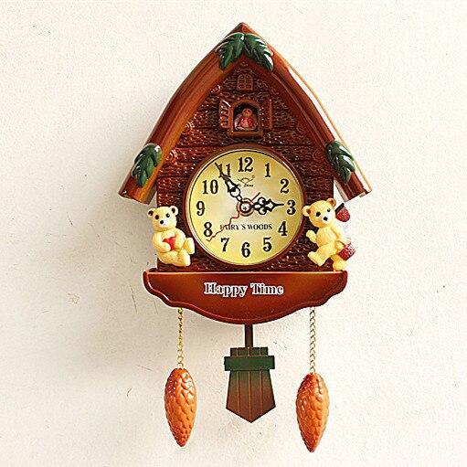mini horaire dire temps de bande dessinee mignon cabane chambre d enfant horloge murale salon montre enfants chambre supe dans horloges murales de maison