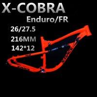 27.5 650B soft tail mountain bike suspension bike rack AM ENDURO aluminum Bicycle frame travel 170mm include REAR SHOX