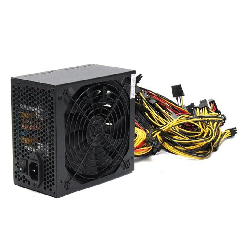 1600 W fuente de alimentación modular para 6 GPU ETH Rig ethereum moneda minería minero máquinas de alta calidad fuente de poder para BTC