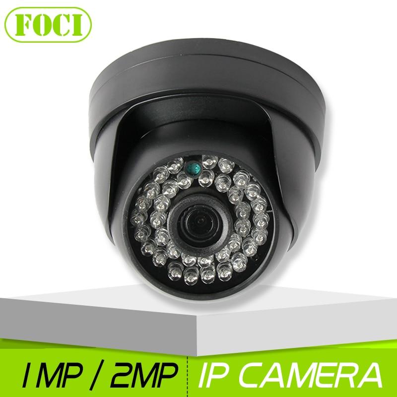 bilder für HD 720 P 1080 P CCTV-IP-KAMERA Dome IR Nachtsicht 48 V PoE Optional 1.0MP 2MP Sicherheit Ip-kamera 3,6mm Objektiv Onvif P2P XMEYE Ansicht