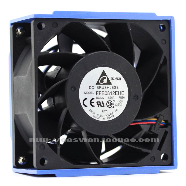Delta FFB0812EHE 7N66 DC 12V 1.35A 80x80x38mm Server Square fan ...