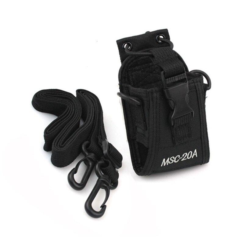 YIDATON Walkie Talkie Holder Pouch Cover Case MSC-20A For Yaesu For Motorola Radio BAOFENG UV-5R UV-5RE Plus UV-B5 UV-82 UV-B5
