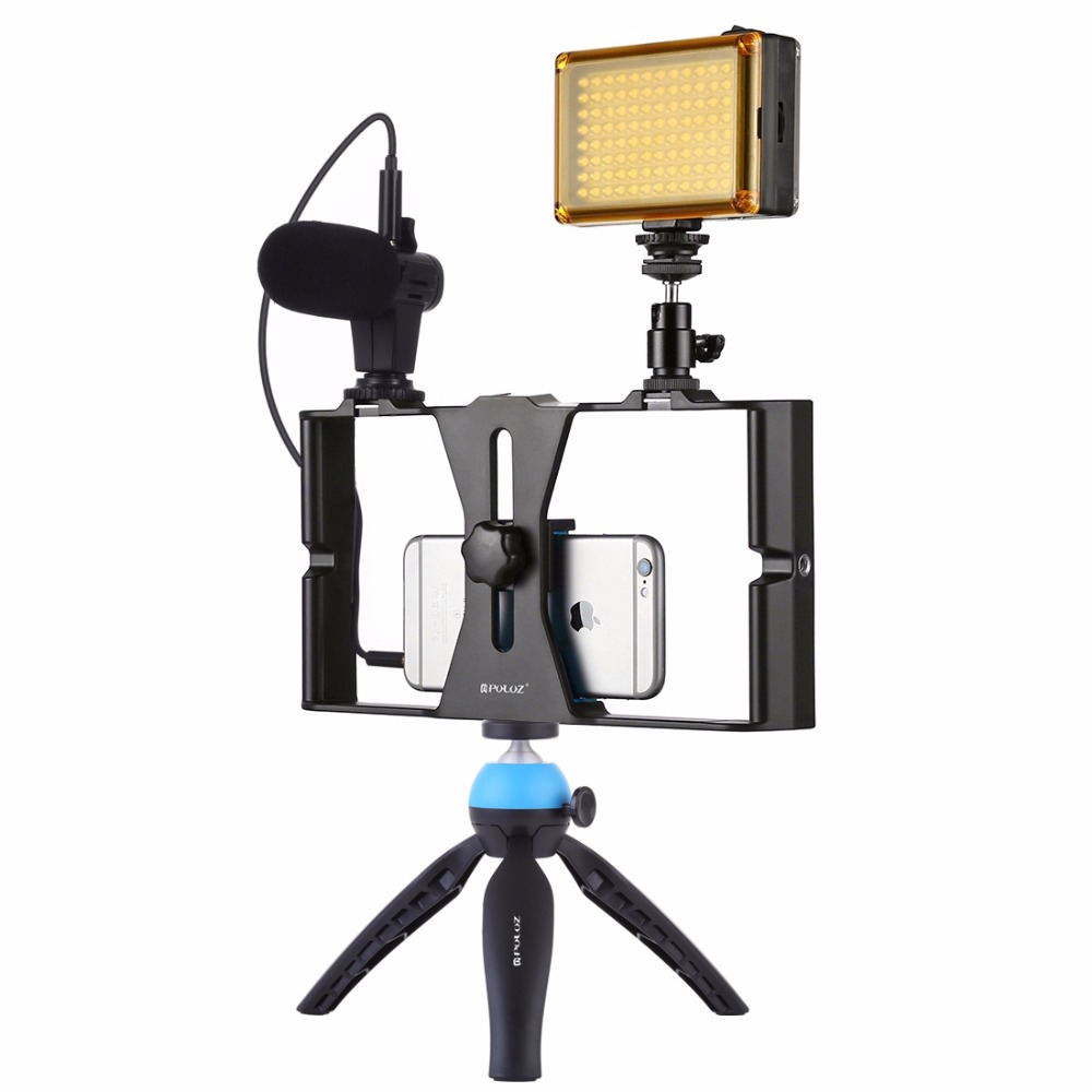 PULUZ Smartphone Video Rig Filmmaking Recording Handle Stabilizer Bracket For IPhone, Galaxy, Xiaomi, LG And Other Smartphones