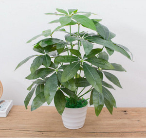 Image 4 - 60CM Artificial Real Touch Plant Monstera Tree without Pot, Fake Plant Tree Decoration For Home Garden