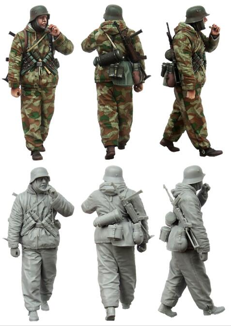 1/35 Resin Figure Winter German Soldier 1pc Model Kits