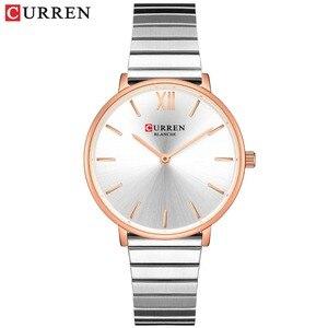 Image 3 - CURREN Luxury Women Watches Rose Gold Analogue Quartz Wrist Watch Female Clock Ladies Stainless Steel Watch relogios feminino