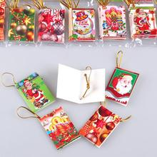 320pcs/lot Different Christmas Elements Mini Paper Greeting Card Holiday Blessing Message Gift
