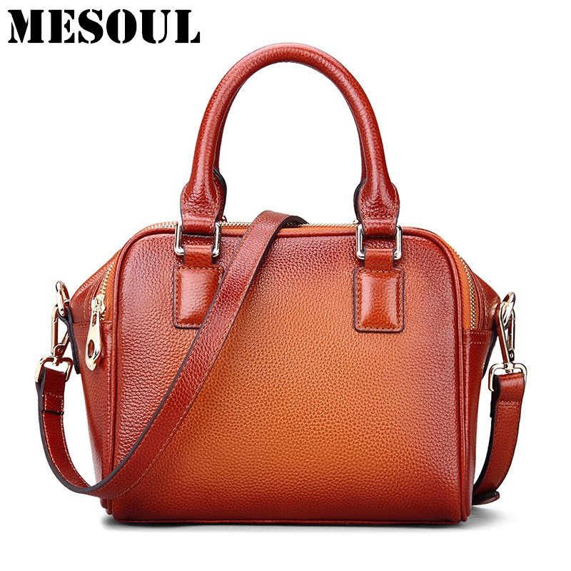 MESOUL Women Handbags Genuine Leather Shoulder Bags For Women Crossbody Bag Vintage Small Purses Brand Designer Ladies hand bags paulmann 70063 лампа накаливания rustuka retro 60 w e27 прозрачн paulmann
