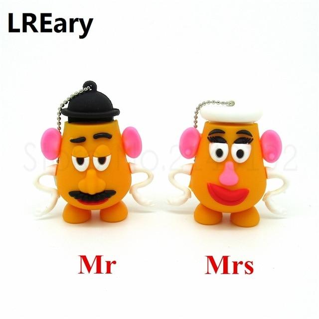 wholesale cute Mr potato head pen drive Toy story series memory Stick 4GB 8GB 16GB 32GB usb flash drive animal u disk