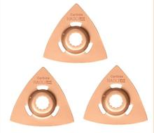 3 pcs Triangular Carbide rasp oscillating muti tool blades for power tools as Ridgid,AEG,Worx Sonicrafter accessories