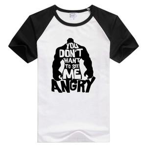 Nie chcesz mnie zobaczyć zły hulk koszulka z krótkim rękawem wygodna koszulka fajne modne koszulki nowość tee GA1312