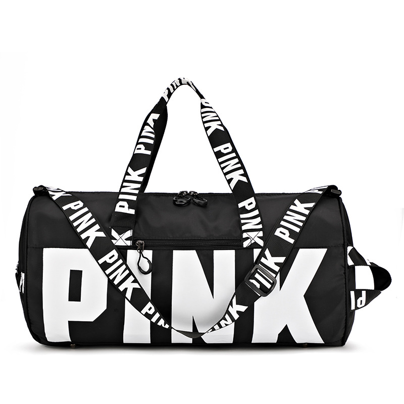 2019 Summer Fashion Ladies Travel Bag Shoulder Bag Portable Large Capacity Waterproof Pink Women Handbag Duffel Bag Fitness Bag