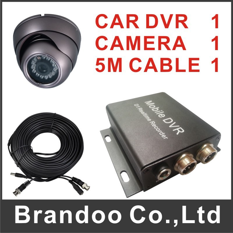 Auto recording car dvr kit, including car dvr+car camera+video cable, auto recording by car ignition on, model BD-300B 1 channel taxi dvr car camera 5 meters video cable auto recording support 64gb sd card overwriting 8 32v power bd 300b