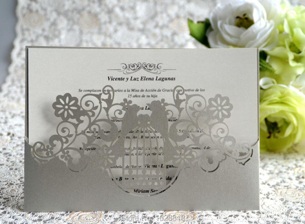 Wedding Invitation Card Paper: Elegant Unique Wedding Invitation Cards, Light Gold Pearl