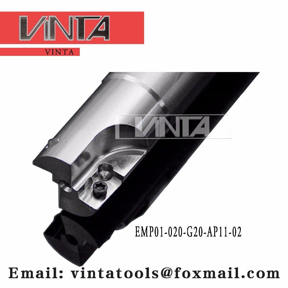 O envio gratuito de EMP01-020-G20-AP11-02 fresa indexável combinado carboneto inserir apkt11t308