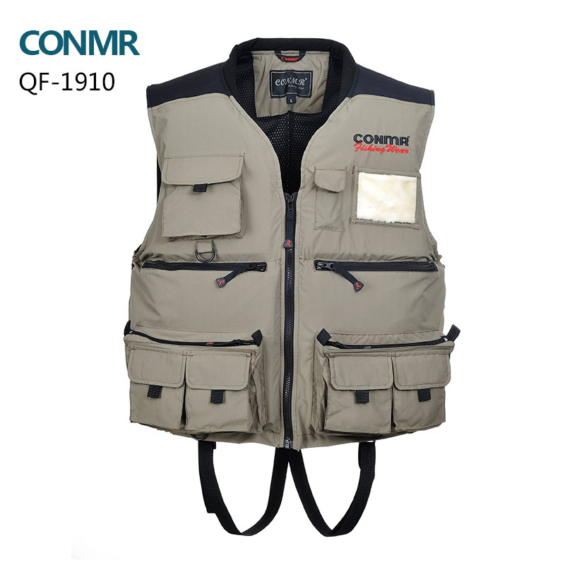 Fishing vest Men professional fishing life vest multi-pocket waterproof hunting Clolthes apparel waistcoats jacket YKK zipper professional multi pocket fly fishing vest sleeveless waterproof life rescue jacket outdoor photography clothing sea wear shirts