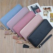 купить Fashion Women Long Wallet Lady Handbags New Zipper Coin PU Leather Purse Cards Holder Female Long Clutch G-130 по цене 653.38 рублей