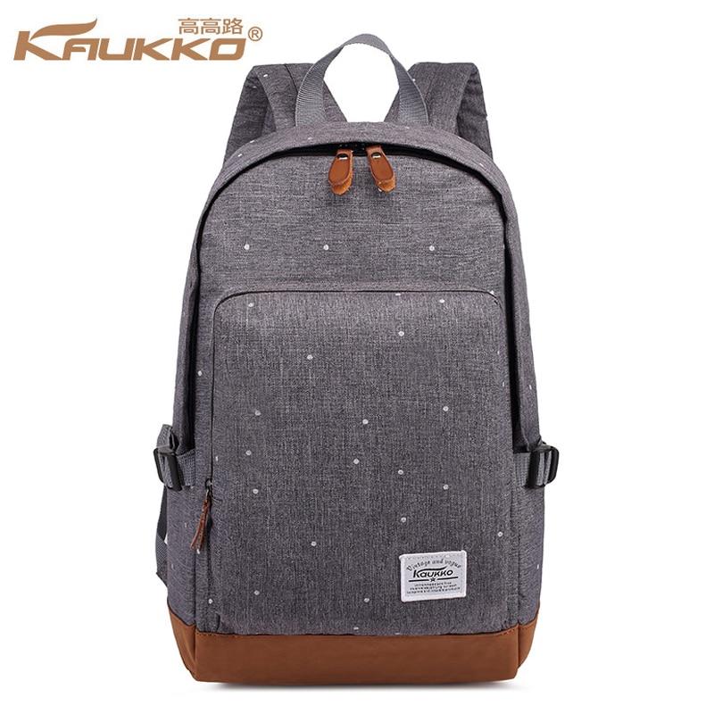 Kaukko Brand Dotted Printing Backpack Men Women School Bags For Teenage Girls Laptop Backpacks Stylish Designer Female Mochilas