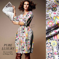 Free Shipping Digital PrintingElastic Silk/ Lycra Material Charmeuse Silk Fabric