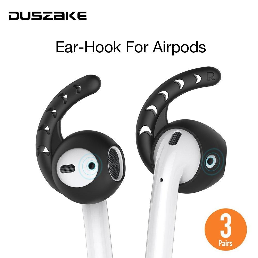 Duszake DA01 Soft Ear para AirPods reemplazo antideslizante funda para las vainas del aire auriculares silicona consejos auricular para Airpod EarPods