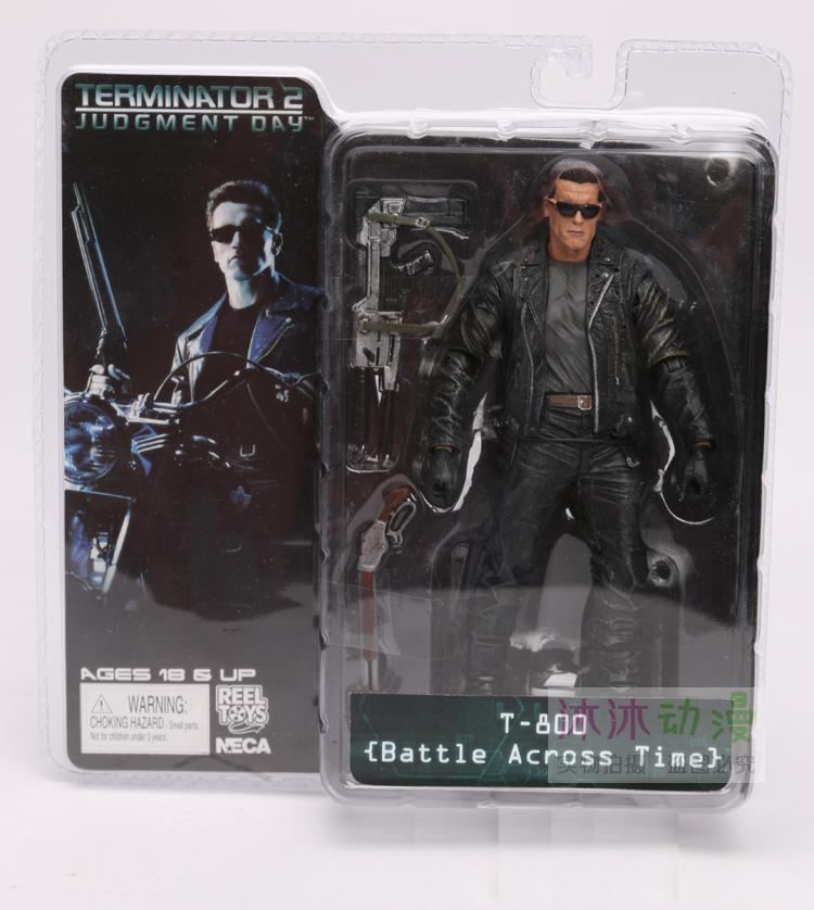 NECA The Terminator 2 Action Figure T-800 / T-1000 PVC Action Figure Toy Model Toy 7 Types 18cm