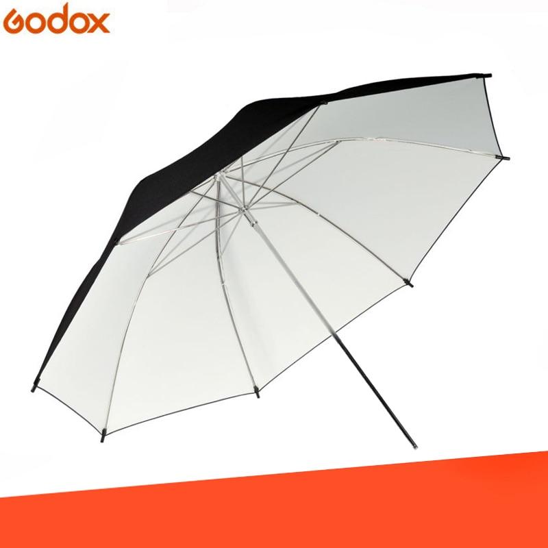 40inch 101cm Studio Umbrella Black White Rubber Cloth Stainless Steel Photography Reflective Umbrella Photo Studio Accessories