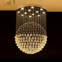 LED Round Chandelier Crystal Lighting Globular Luxury Design for Indoor Deco Dining Room Living Room Hotel Study Bar|round chandelier crystals|round chandelier|chandelier crystal -