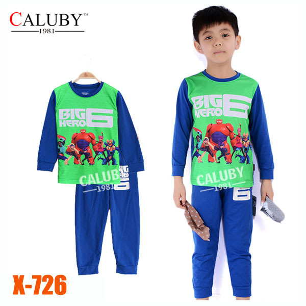 Boys Big Hero Clothing Set Kids Cartoon Clothes New 2014 Wholesale Children 2-7Y Cotton Pajamas Sets X-726