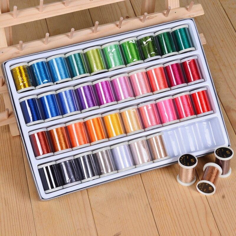 Haute qualité 40 couleur couture fil boîte ensemble bricolage ménage couture fil main couture câblage couture outil