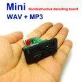 5 V 7-12 V Mini Módulo de MP3 Player com TF USB MP3 WAV Lossless decodificação bordo