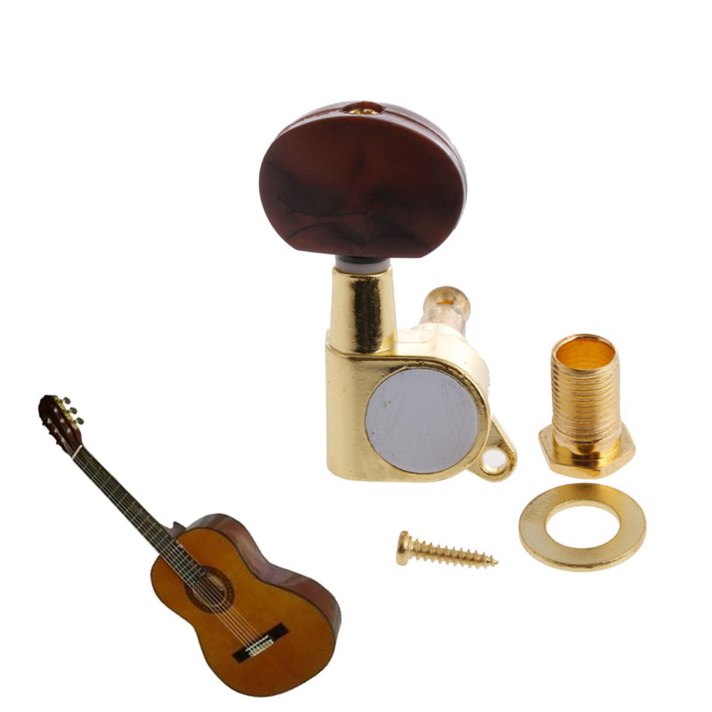 1set Red Pearl Knob Enclosed Acoustic Guitar String Tuning Pegs